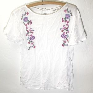 Cloud Chaser Embroidered Floral Blouse
